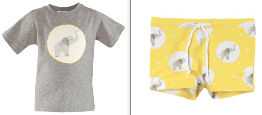 Conjunto traje de baño bebé niño camiseta y culetín