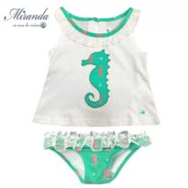 Conjunto camiseta culetín bebé niña firma Miranda