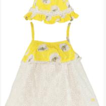 Conjunto traje de baño -Vestido Gorro bebe niña (2)