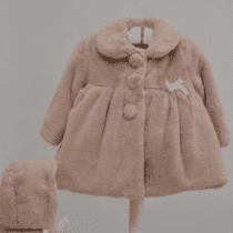 Abrigo con capota bebé niña Marta y Paula