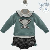 Conjunto bebé tres piezas Yoedu 0204