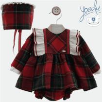 Jesusito bebé niña con capota cuadro escocés Familia Atena